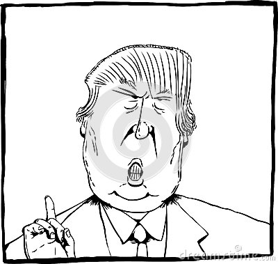 cartoon-outline-caricature-donald-trump-dec-president-elect-83193615